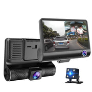 "Dash Cam 4"" IPS Screen Dual Lens With Rearview Night Vision Camera"