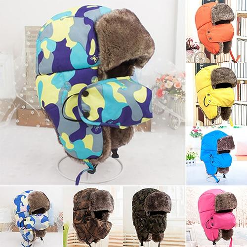 acd9bd14c Unisex Winter Trapper Hat with Face Mask   Winter Hats Fur Trapper ...