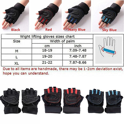 Maximum Grip Workout Gloves Professional Ventilated Weight Lifting