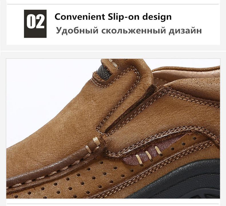 New High Quality Waterproof Work Shoes Cow Leather