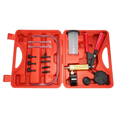 Brake Bleeder Kit Vacuum Pressure Pump Tester With Gauge