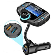 Bluetooth FM Transmitter For Car With Dual Fast Charge USB Port