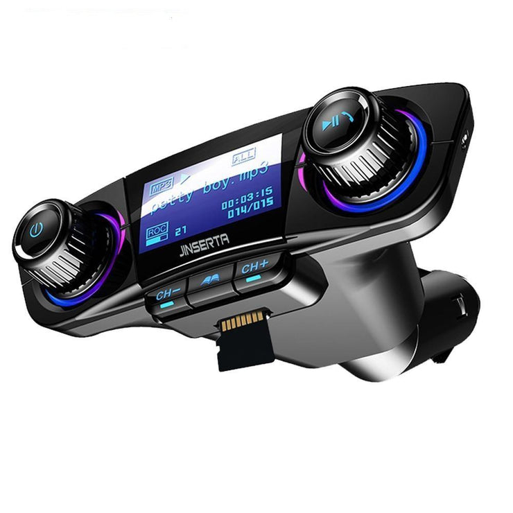 Bluetooth FM Transmitter Car MP3 Player With Smart Charge Dual USB