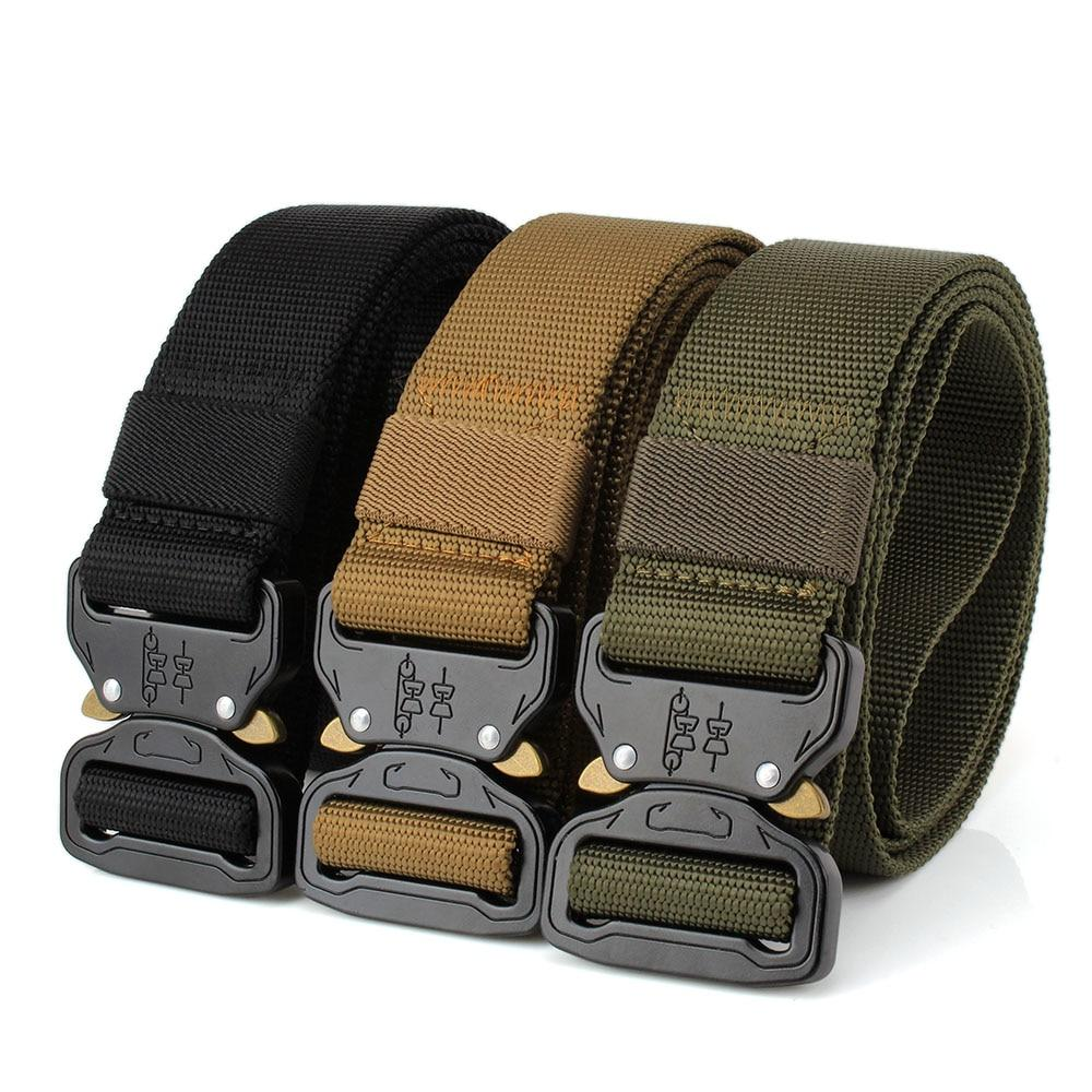 Tactical Belt With Quick Release Metal Buckle (Set of 2