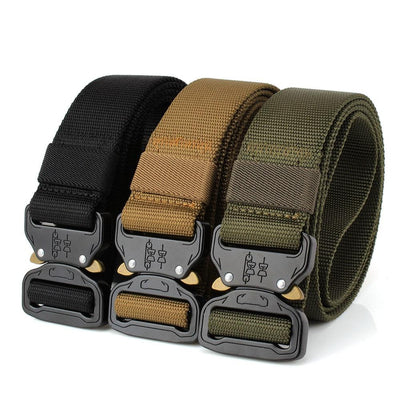 Tactical Belt With Quick Release Metal Buckle (Set of 2)