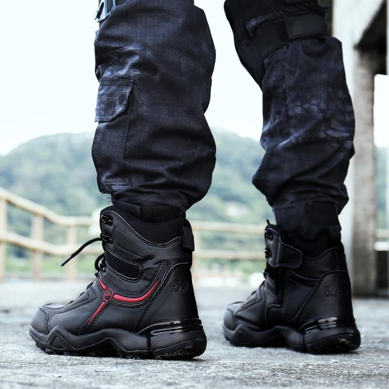 Men\u0027s Waterproof Hiking Boots For Climbing Tactical Style