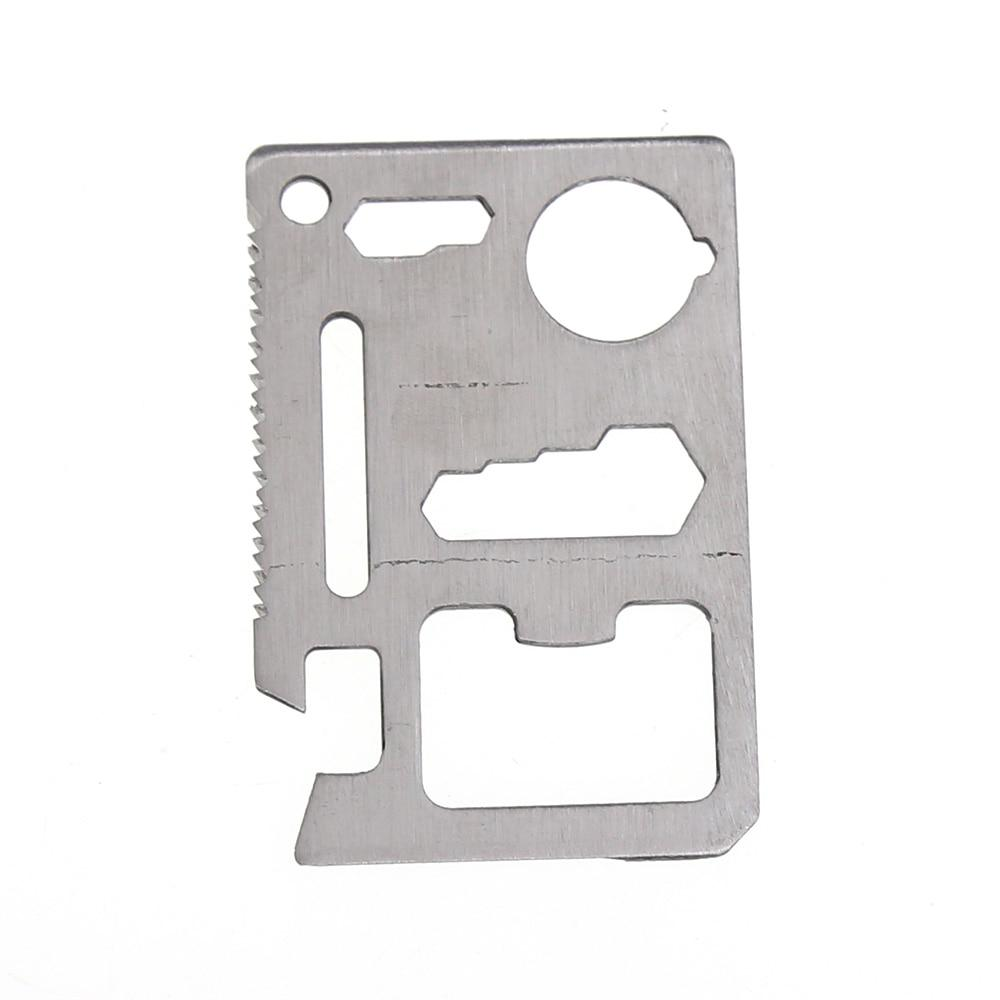 Outdoor Tools Stainless Steel Multi-function Outdoor Survival Kit Card LF