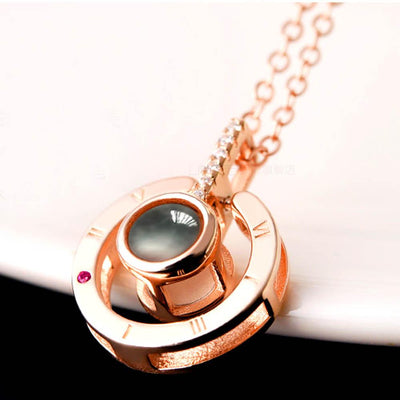 Secret Code Microletter Love Necklace