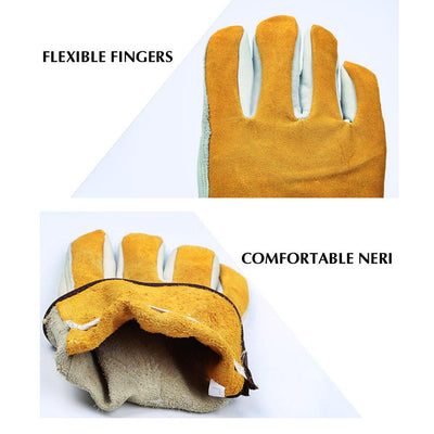 Amazing Cowhide Leather Work Gloves