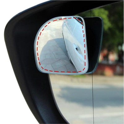 Blind Spot Mirror For Cars Frameless Adjustable 360° Wide Angle