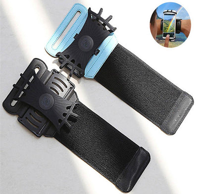 Wristband Cell Phone Holder with 180 Degree Rotation