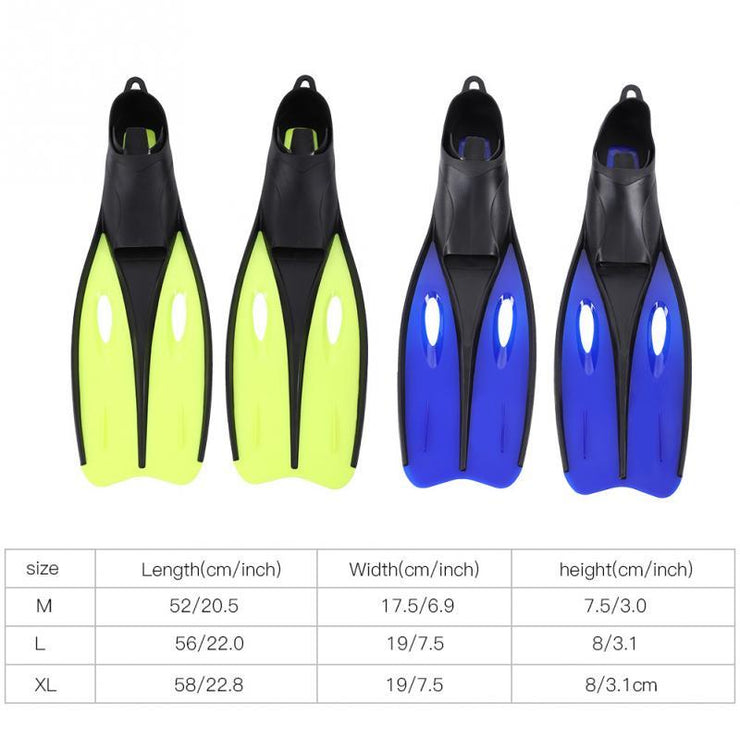 Swim Fins Long Diving Flippers For Outdoor Swimming Sports