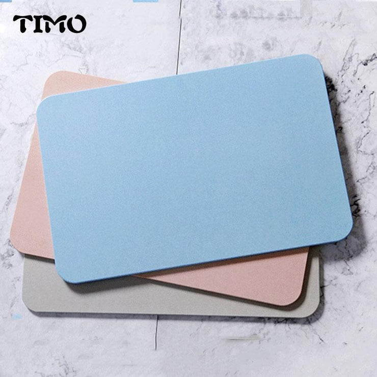 Quick-drying Bath Mat Water Absorption Diatomite Mat Bathroom Door Mat Absorbent Magical Designer Diatomite Bathroom Products
