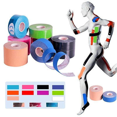 Sports Elastic Kinesiology Tape (Set of 4)