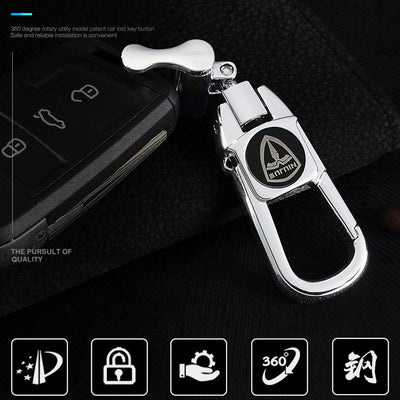Anti-Theft Branded Car Keychain