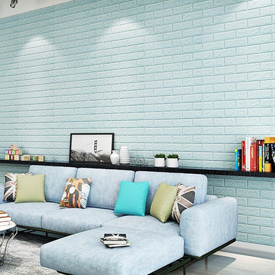 3D Brick Wall Adhesive Wallpaper, 10 PCs