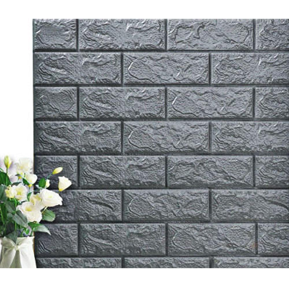 3d Brick Wall Adhesive Wallpaper 10 Pcs Regulustlk