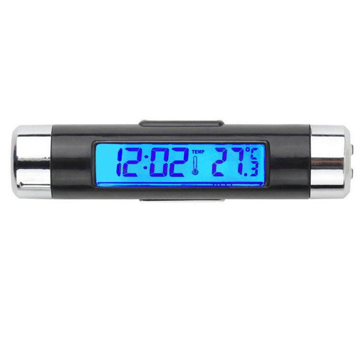 Car Clock Digital LCD Backlight With Temperature Reading