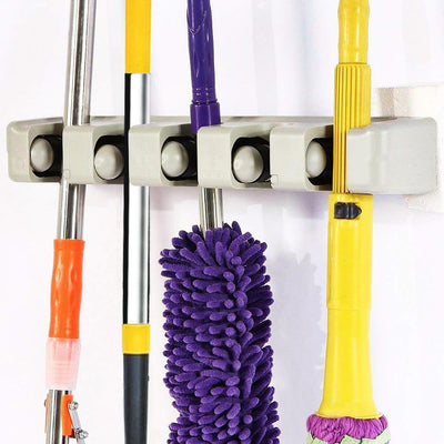 Heavy Duty Wall Mount Mop and Broom Holder