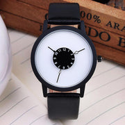Unique Reverse Dial Design Wrist Watch