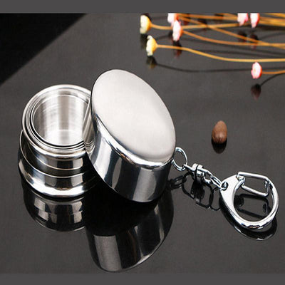 Outdoor Stainless Collapsible Keychain Cups