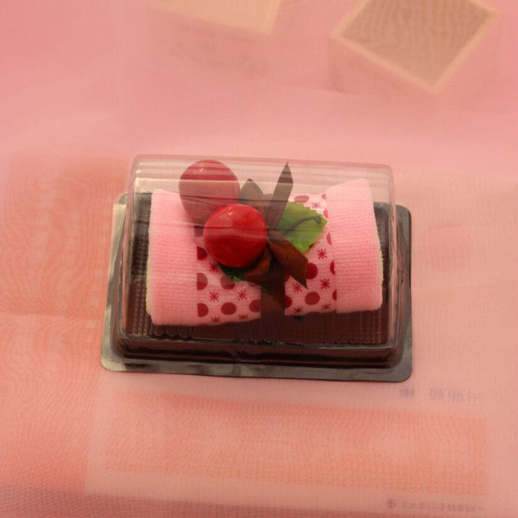 TLK CHERRY CAKE SHAPE WASHCLOTH, 3PCs