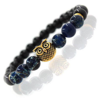 Beautiful Handcrafted Owl Beads Bracelet & Bangle, Natural Stone