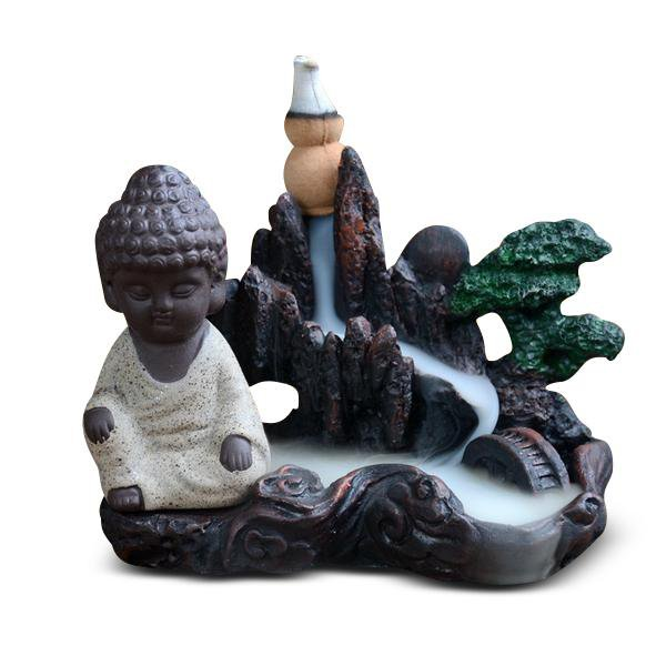 Cool Multi-Color Buddhism Incense Burner with Incense Sticks