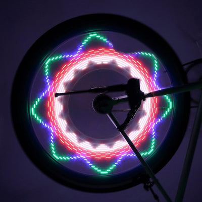 Cool Waterproof Cycling Wheel Spoke Light, 32-pattern