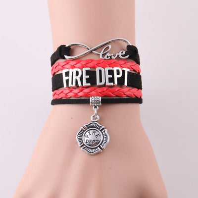 Infinity love for firefighter bracelets & bangles