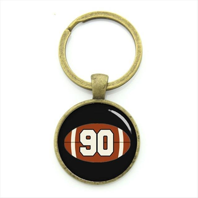 Charm Firefighter badge key chain ring