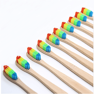 Cute Rainbow Wooden Toothbrush