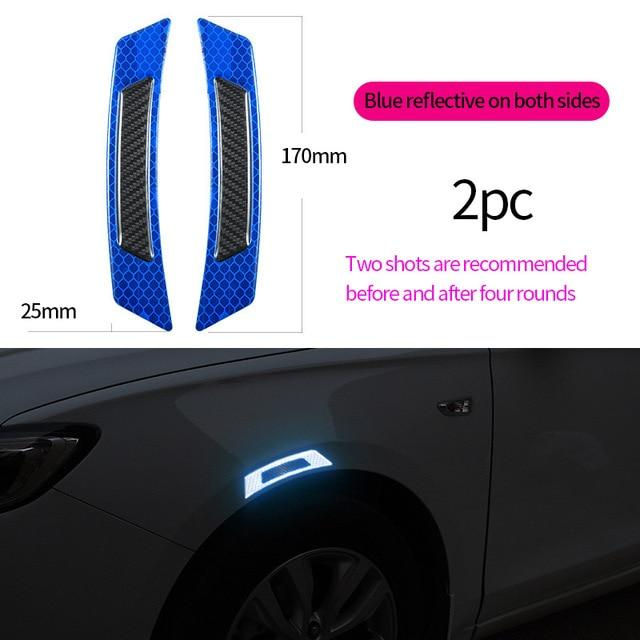Car Door Protector Reflective Anti Collision Strip (Set of 2)