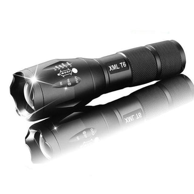 Rechargeable Flashlight LED for Military Use with 4000 Lumens