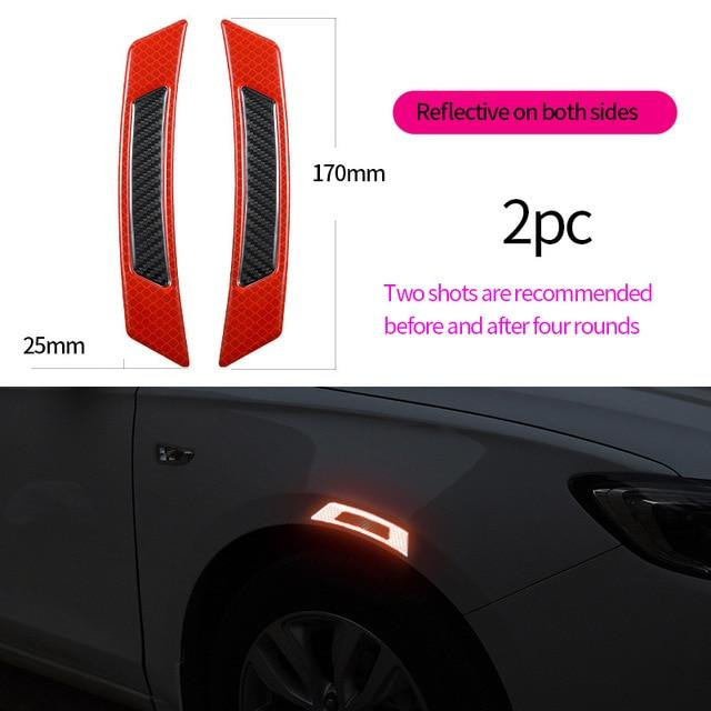 TOTMOX 2x Car Door Edge Protectors Red Car Anti-Scratch Anti-Collision Anti-rub Decorative Strip