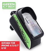 Bike Frame Bag With Waterproof Cellphone Pouch Touchscreen Bag