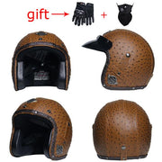 Open Face Helmets Vintage Scooter Half Face Head Gear