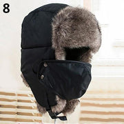 Unisex Winter Trapper Hat with Face Mask