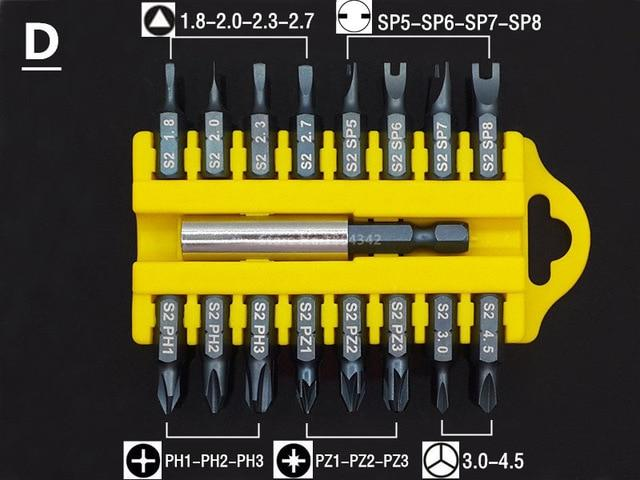 Torx Bit Set Tamper Proof Star Screwdriver With Magnetic Holder