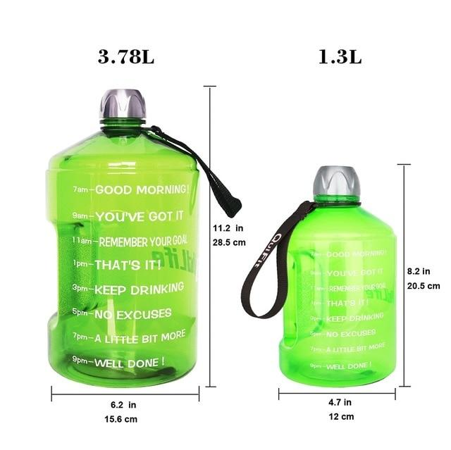 Drink Reminder Water Bottle with Time Marker