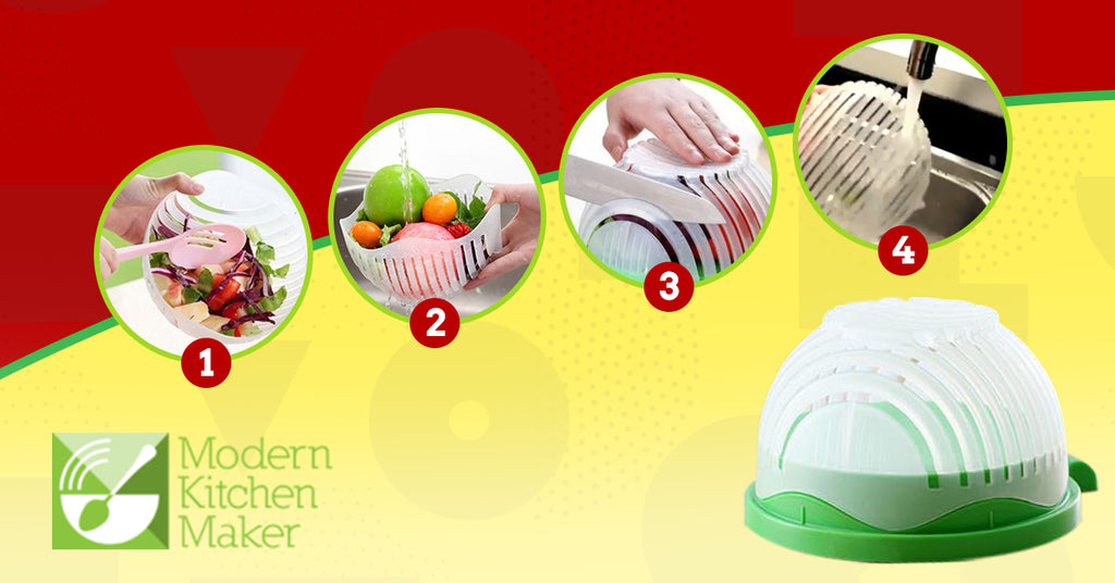 Easy 60 Second Salad/Fruit Bowl Cutter
