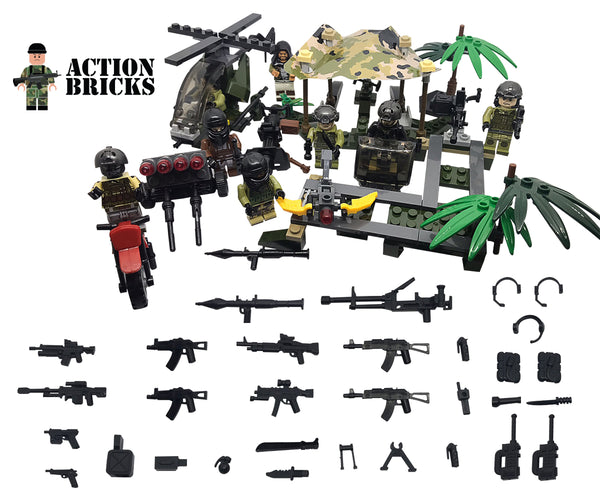 Compatible Lego Army Men Military sets mini figures of army men, SWAT, Army, Special Teams and More