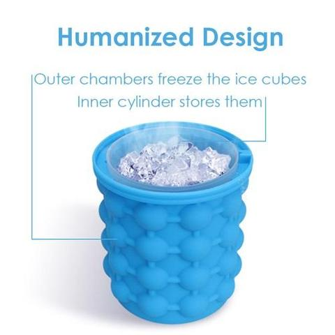 Space Saving Ice Cube Maker and/or Beverage Cooler