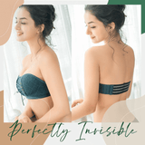 Lace Bandeau Drawstring Bra Push Up Bra Instantly Adds 2 Cups to your bust line
