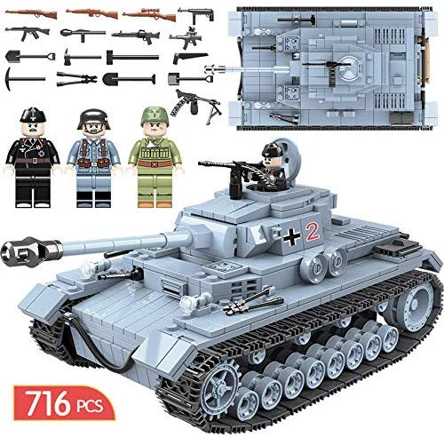 Army Men Action Bricks Panzer IV Army Tank
