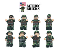 Compatible Lego Army Minifigures Boarders and Towers 8 Minifigures Set Action Bricks - ModernKitchenMaker.com
