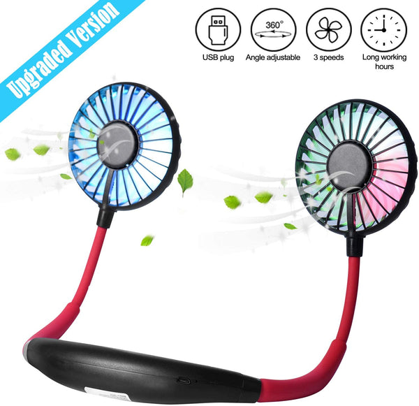 Cooling Neck Fan Wearable Sports Fan Portable Hands Free Personal Fan