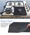 Non-Stick Heat Resistance Fiber Glass Cloth Stove Top Covers (8 Piece Set) - ModernKitchenMaker.com