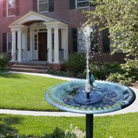 Solar Powered Fountain with 3 Different Spray Heads