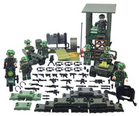 Compatible Lego Army Minifigures Boarders and Towers 8 Minifigures Set Action Bricks